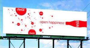 Coke Bill board open happiness