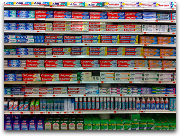 Confusing shelves packaging