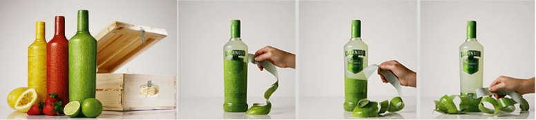 Packaging innovations - engagement -wraps Smirnoff