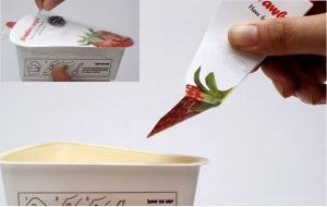 Packaging innovations - functionality - yogurt