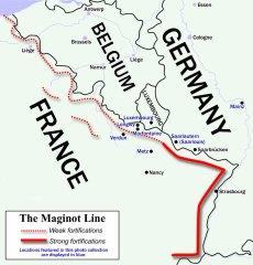 Maginot line - flanking warfare strategy