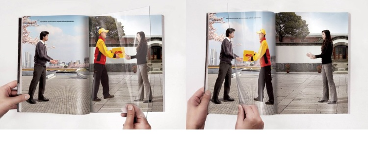 Advertising templates - Interactive experiment - DHL