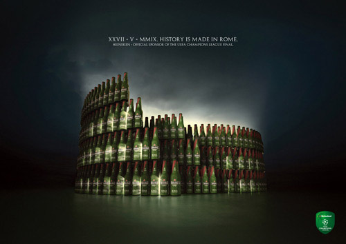 Advertising templates - Pictorial analogy - Heineken colosseum