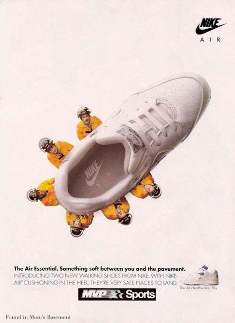 Advertising templates - Pictorial Analogy - Nike