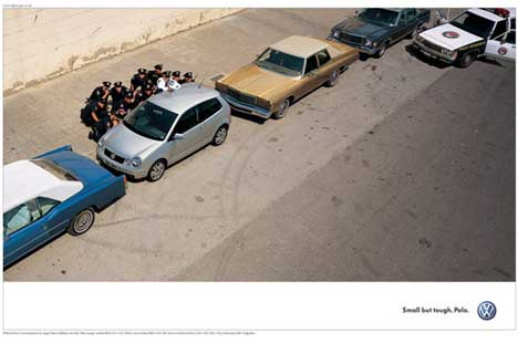 Advertising templates - uncommon use - vw - polo -cops